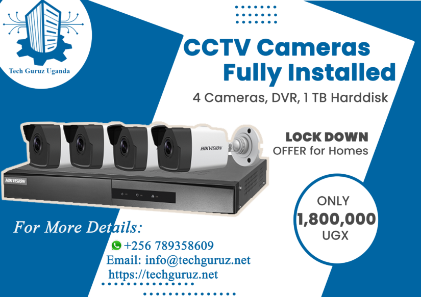 Lock Down Offer for CCTV Cameras At Home